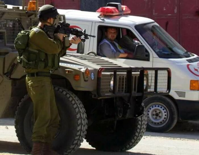 Scene from Firefighters under Occupation