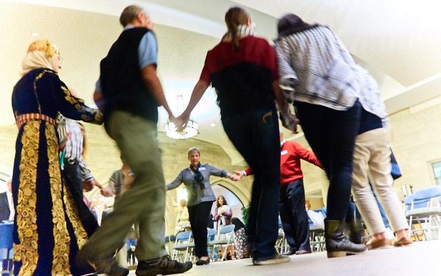 Dancing at Celebrate Palestine
