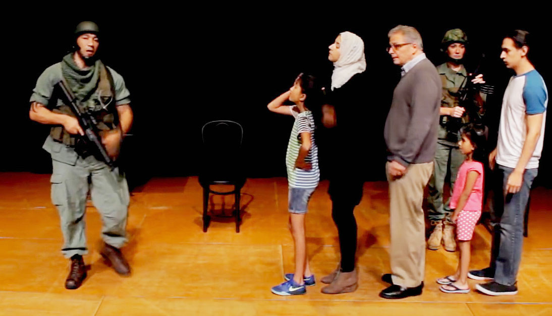 Scene from It's What We Do: A Play About the Occupation