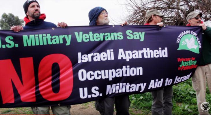 Scene from Veterans for Peace in Palestine