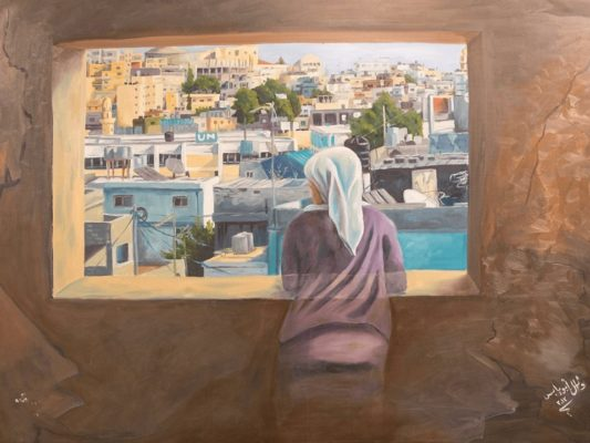 A Home Lives Inside Me, by Wael Abu Yabes, 2013 (part of the exhibit)